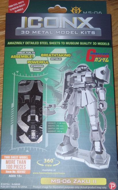 MS-06 Zaku II ICONX 3D Metal Model Kit Gundam