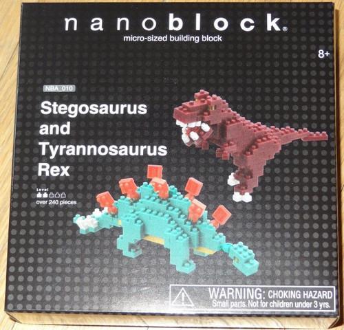 Stegosaurus and Tyrannosaurus Rex Nanoblock