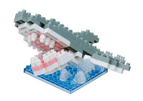 Great White Shark Splash Nanoblock