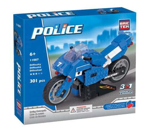 Police Racing Motorcycle BricTek