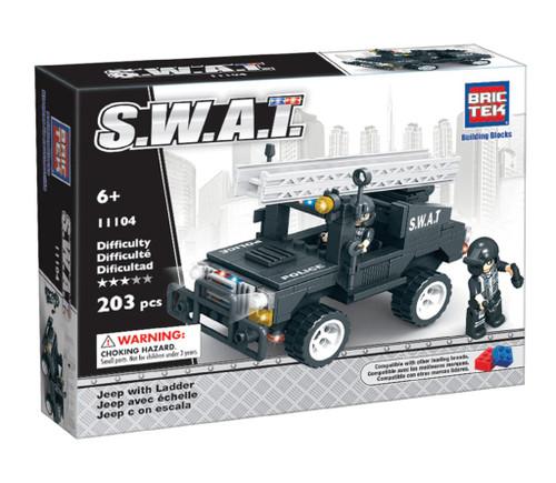 SWAT Jeep with Ladder BricTek