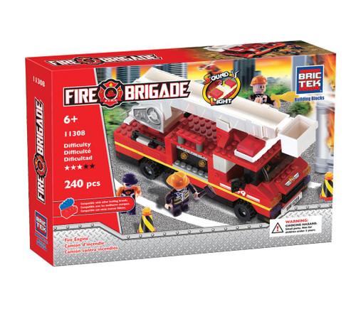 Light & Sound Fire Engine BricTek