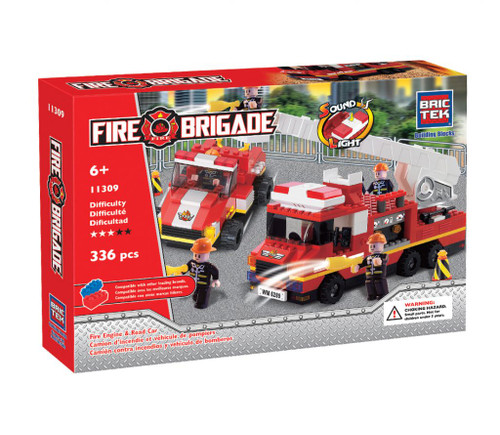 Fire Engine & Road Car BricTek