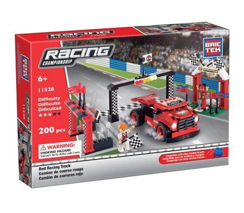 Red Racing Truck BricTek