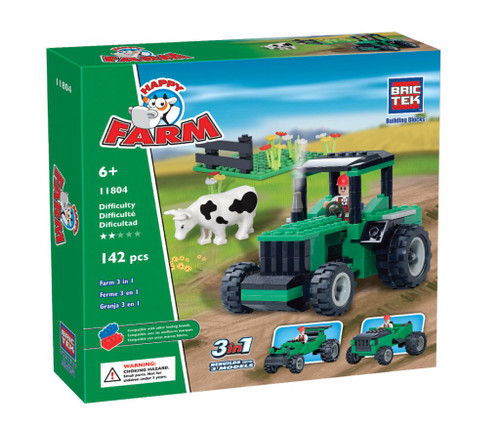 Farm Green Tractor 3 in 1 BricTek