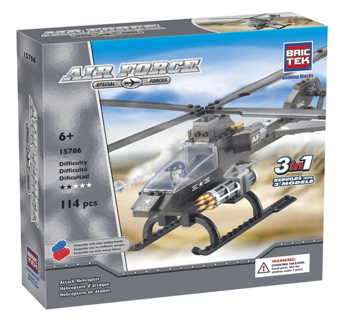Attack Helicopter BricTek