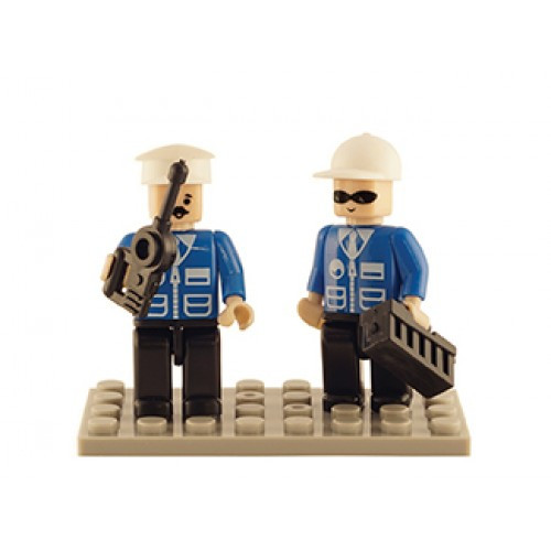 Police Set of 2 Mini Figures BricTek
