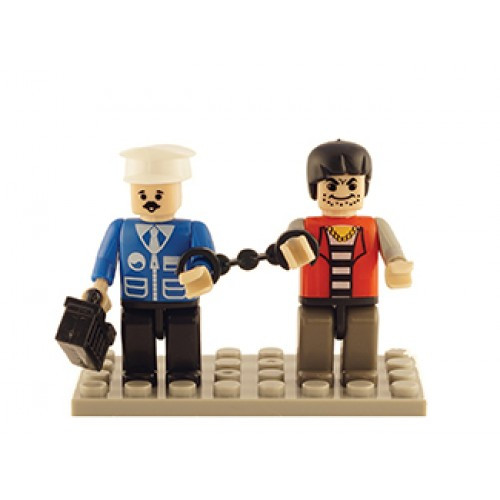 Police & Thief Set of 2 Mini Figures BricTek
