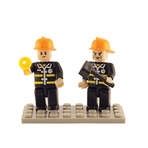 Fire Brigade Set of 2 Mini Figures BricTek