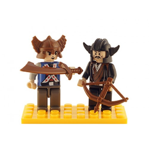 Castle Set of 2 Mini Figures BricTek