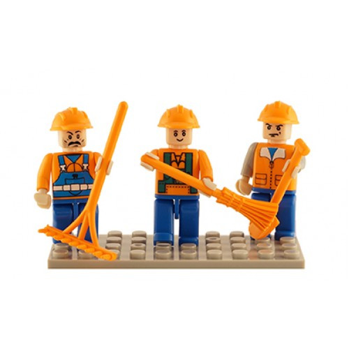 Farm Set of 3 Mini Figures BricTek