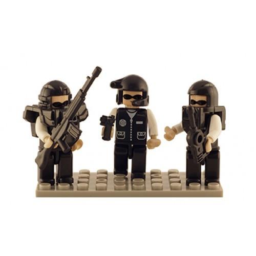 SWAT Set of 3 Mini Figures BricTek