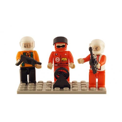 Racing Set of 3 Mini Figures BricTek