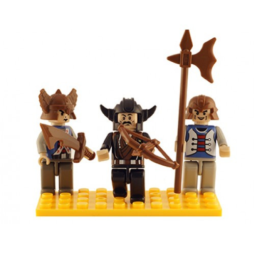 Castle Set of 3 Mini Figures BricTek