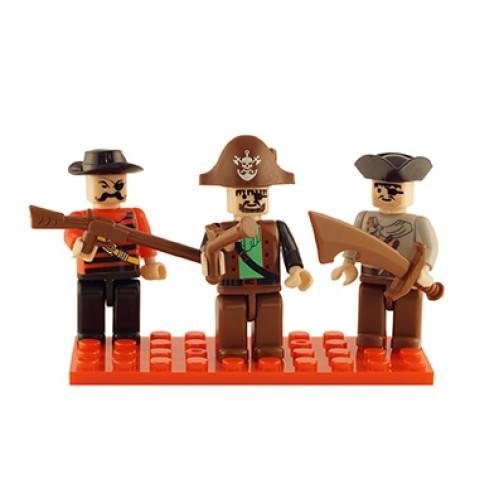 Pirates Set of 3 Mini Figures BricTek