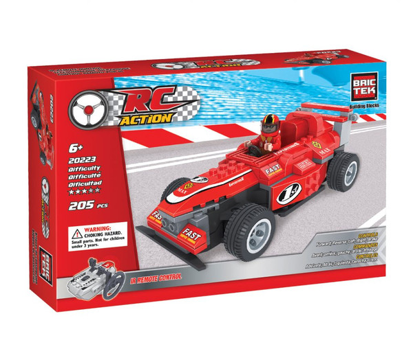 Radio Control Red Racing Car BricTek