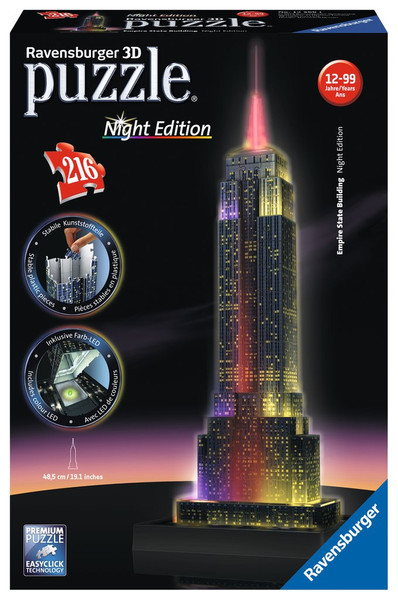 Empire State Building 3D Puzzle Night Edition