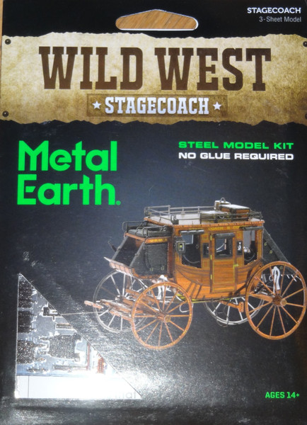 Stagecoach Wild West Metal Earth