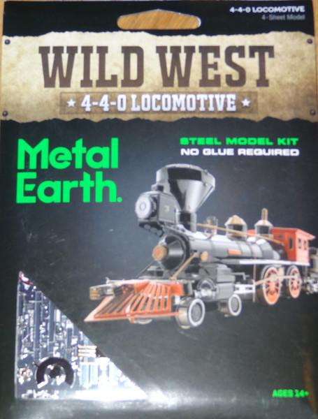 4-4-0 Locomotive Wild West Metal Earth