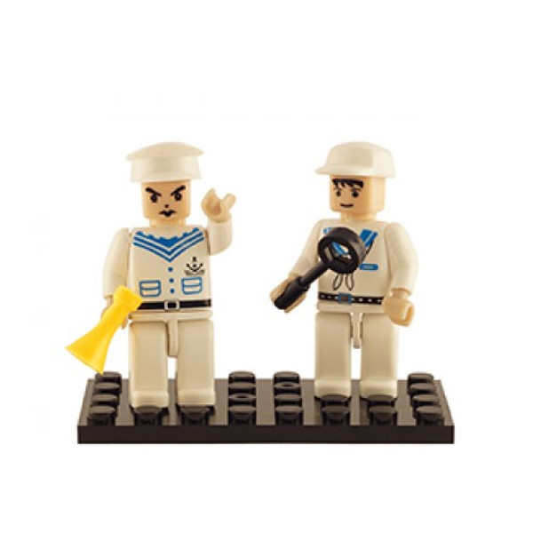 Navy Set of 2 Mini Figures BricTek