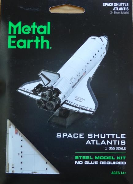 Space Shuttle Atlantis Metal Earth