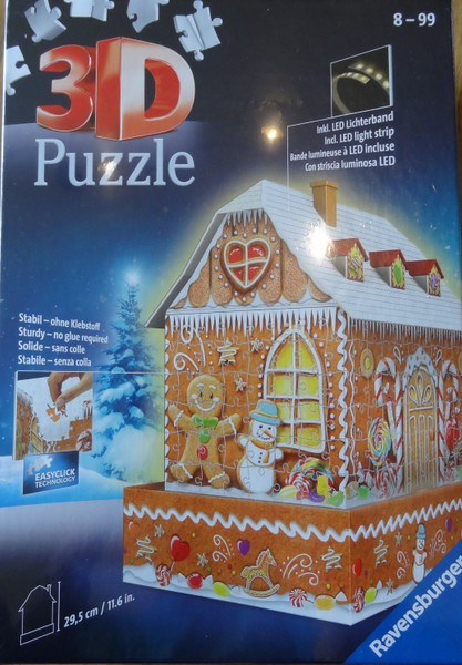 Gingerbread House 3D Puzzle LED