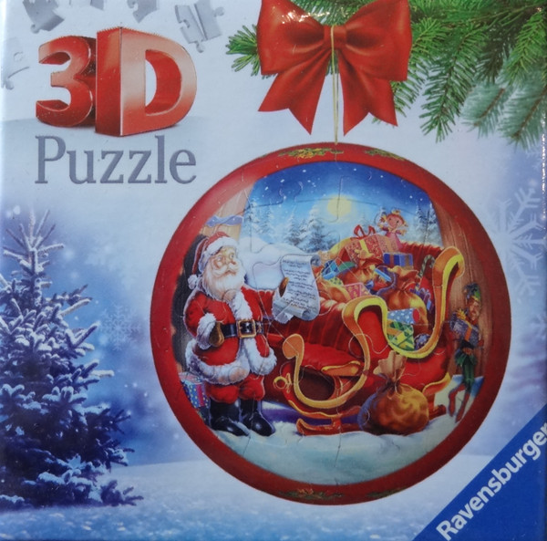 Santa's Sleigh Christmas Ornament 3D Puzzle
