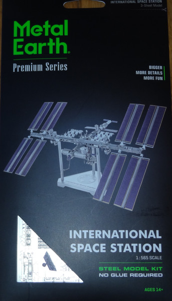 International Space Station ICONX 3D Metal Model Kit