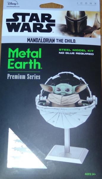 The Child Mandalorian Star Wars ICONX 3D Metal Model Kit