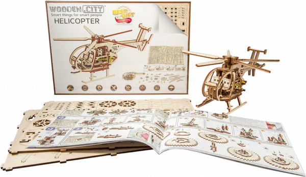 Helicopter Wooden City