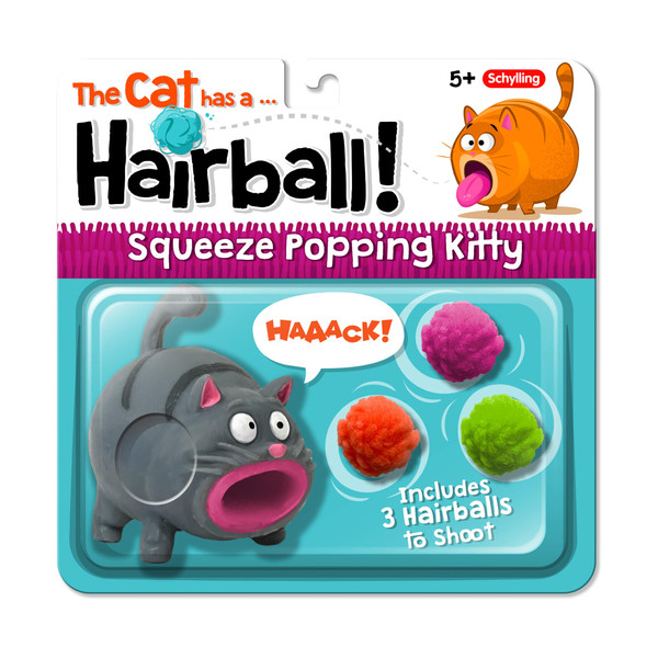 Hairball Cat Squeeze Toy