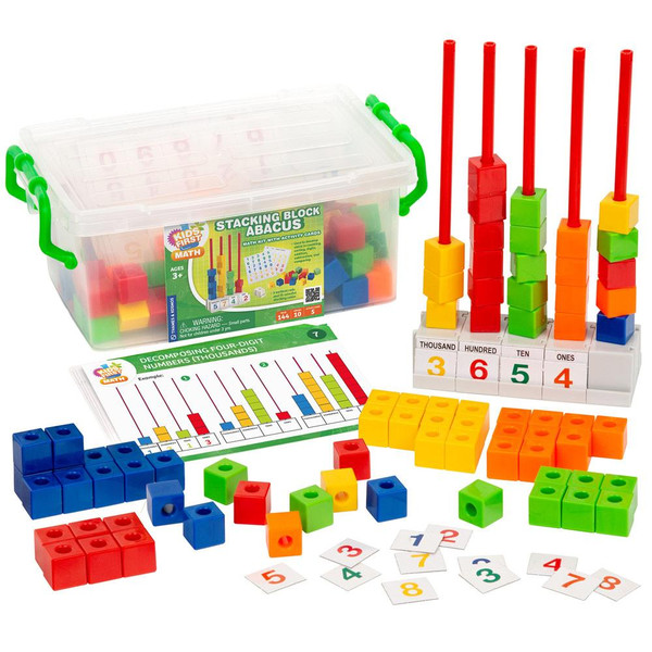 Stacking Block Abacus Kids First Math Kit