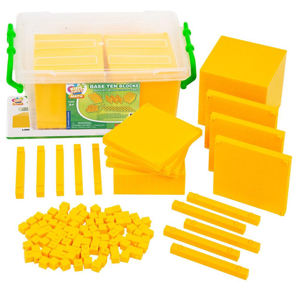 Base Ten Blocks Kids First Math Kit