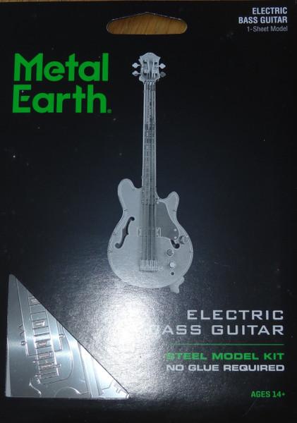 Electric Bass Guitar Musical Instrument Metal Earth