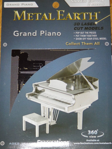 Grand Piano Musical Instrument Metal Earth