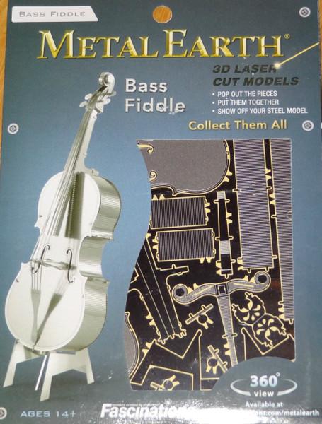Bass Fiddle Musical Instrument Metal Earth