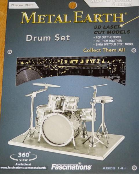 Drum Set Musical Instrument Metal Earth