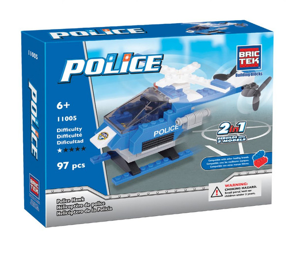 Police Hawk Helicopter BricTek
