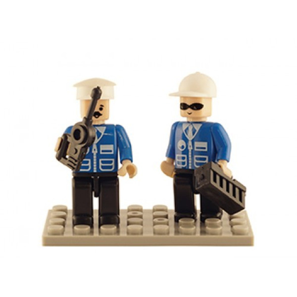 Police Set of 2 Mini Figures BricTek
