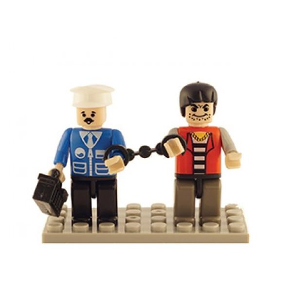 Police & Thief Set of 2 Mini Figures BricTek