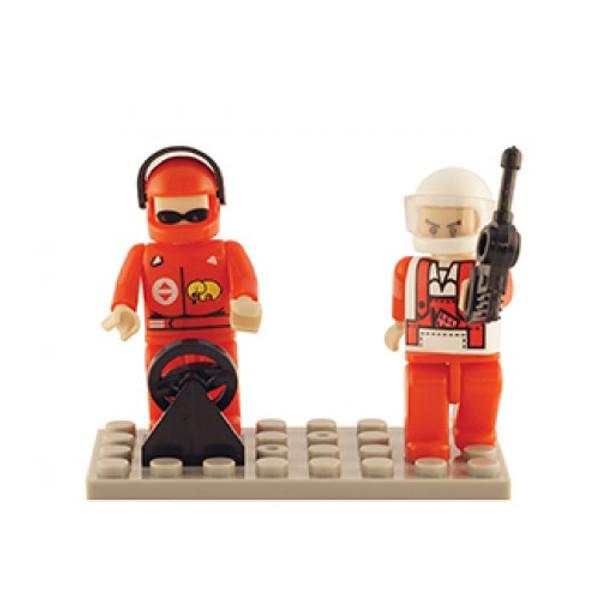 Racing Set of 2 Mini Figures BricTek