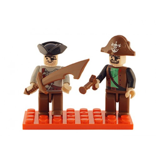 Pirates Set of 2 Mini Figures BricTek