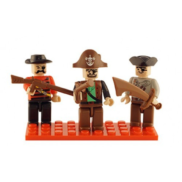 Pirates Set of 3 Mini Figures BricTek