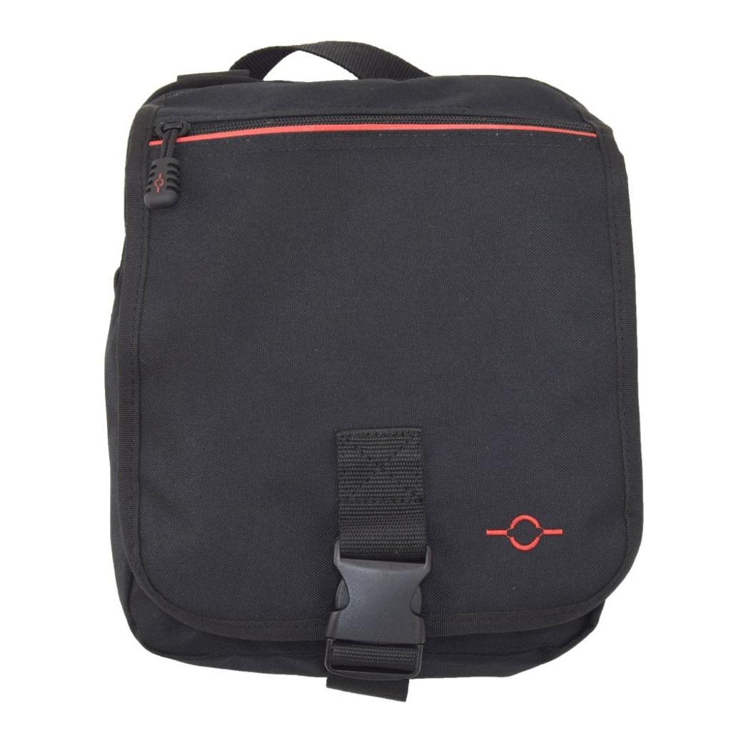 Front flap with large zippered pocket