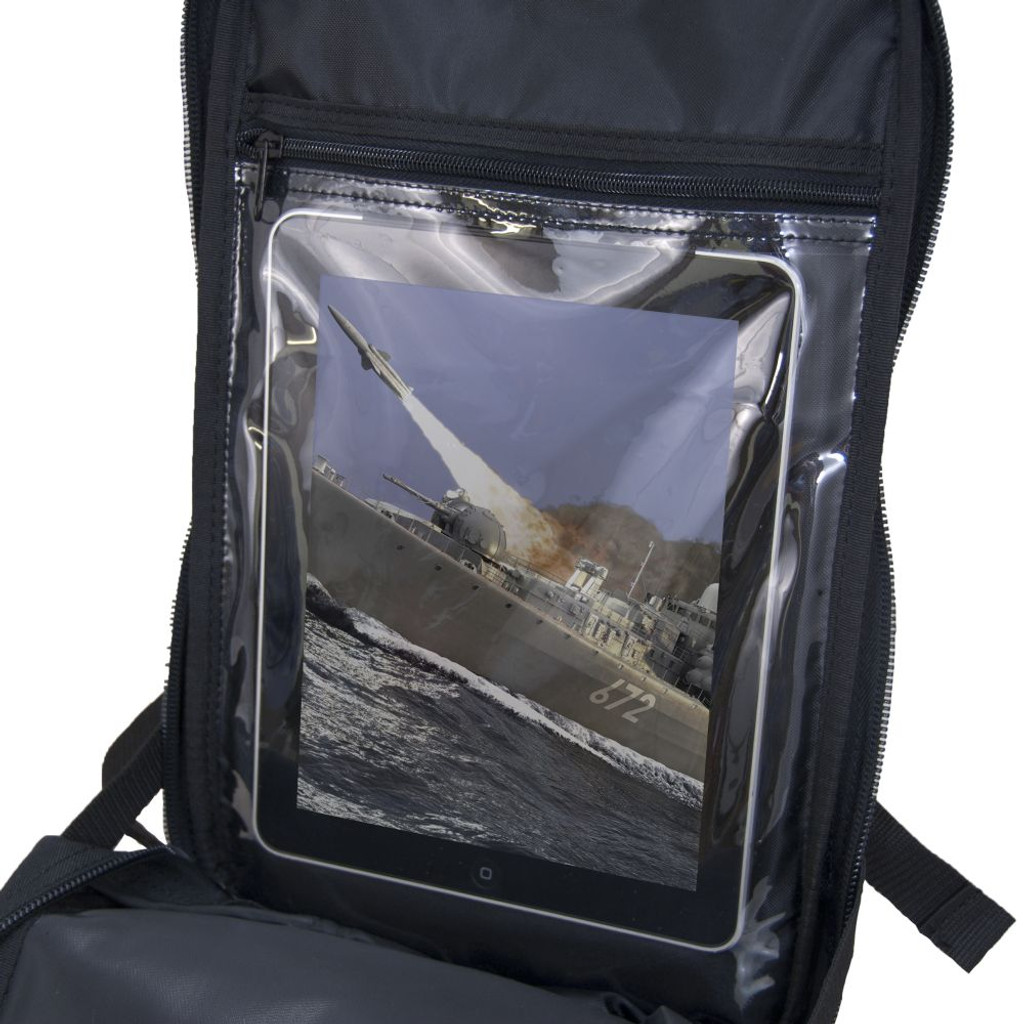 Touchscreen vinyl tablet pocket - no need to remove your tablet