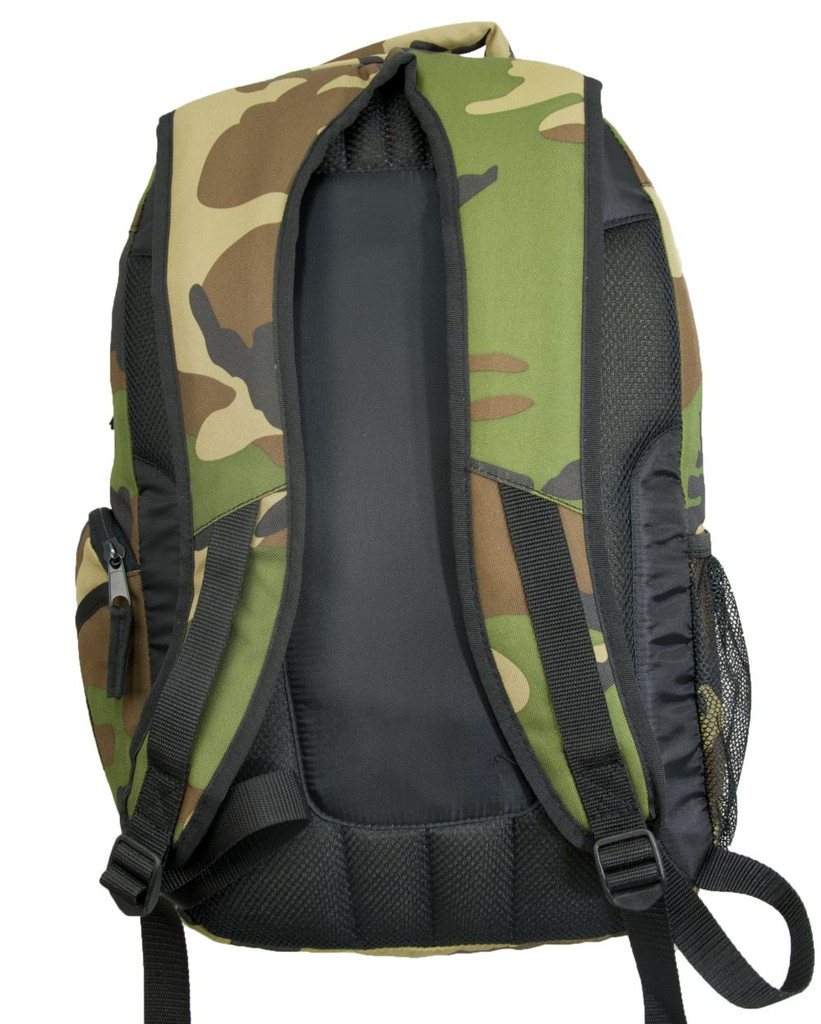 Padded top handle & backpack straps