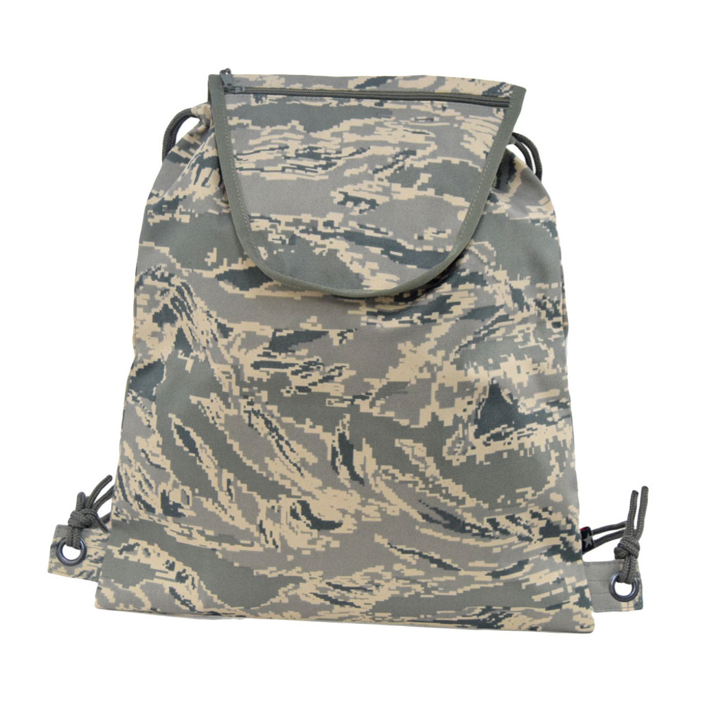 89f7c9e3e9d Drawstring Backpack with small zippered pocket on the flap for all your  smaller items