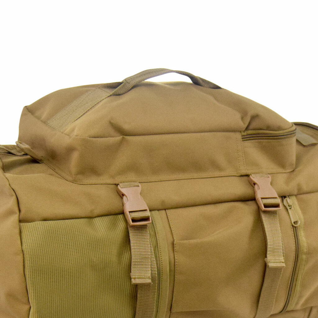 Large front / top zippered pocket to store smaller items