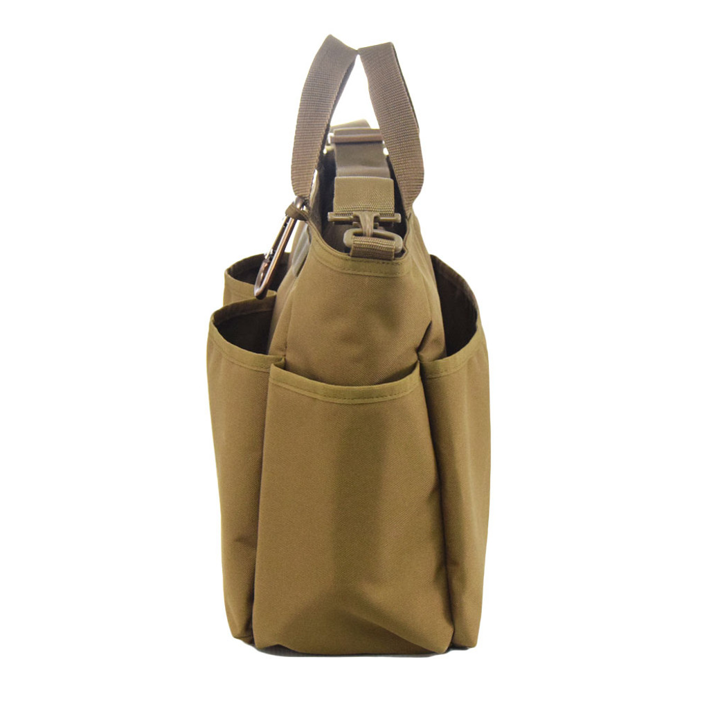Insulated side pockets are perfect for baby bottles or water bottles