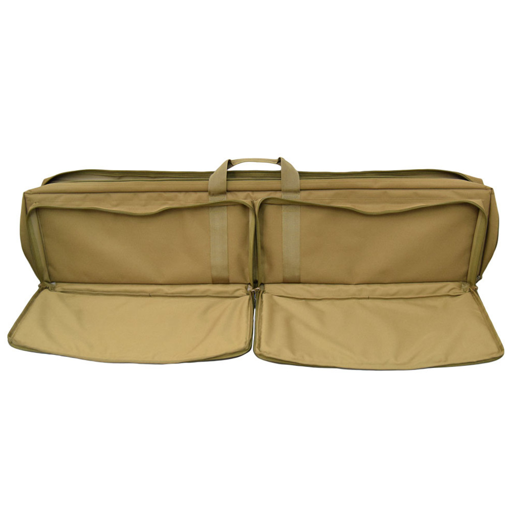 "Two large 25"" w x 10"" h x 2"" d exterior pockets with 180-degree zippers can hold a variety of gear"